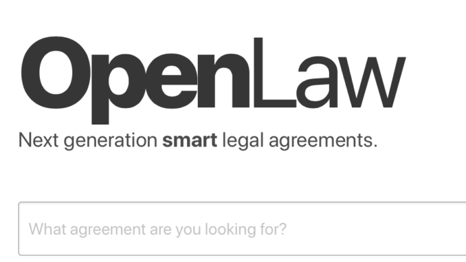 Openlaw Blockchain Offers Frictionless Contracting To Lawyers